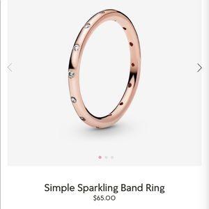 🌹Pandora Simple Sparkling Band Ring!